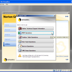 Extra Options in Norton Ghost