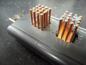 Closeup of Heatsink with individual rod openings.
