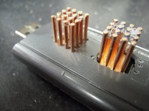 Closeup of Heatsink with individual rod openings.